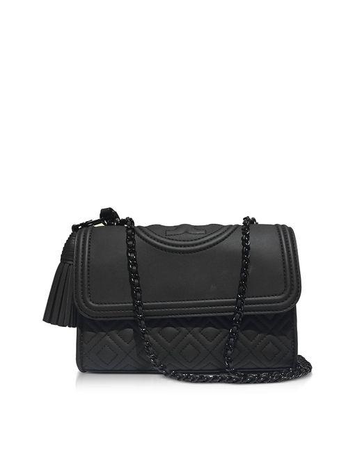 Tory Burch | Fleming Black Matte Small Convertible Shoulder Bag | Lyst