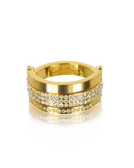 Vita Fede - Metallic Bardot Gold Tone Ring W/crystals - Lyst