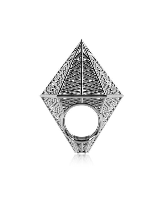 Vojd Studios | Metallic Umbala Hexagonal Sterling Silver Ring | Lyst