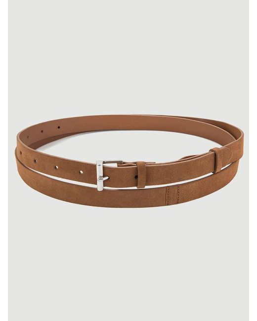 FRAME - Brown Double Wrap Leather Belt - Lyst