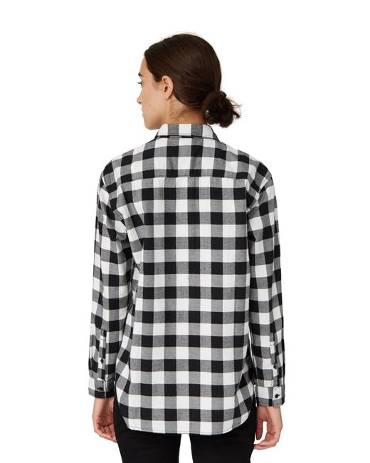 Frank oak buffalo check shirt in off white in white lyst for Frank and oak shirt