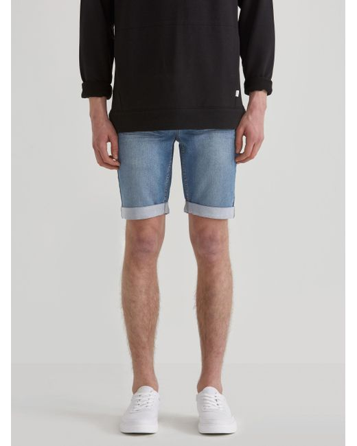 Frank And Oak - Blue French Terry Denim Shorts for Men - Lyst