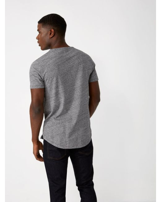 Frank oak melange loose fit t shirt in pavement in gray for Frank and oak shirt