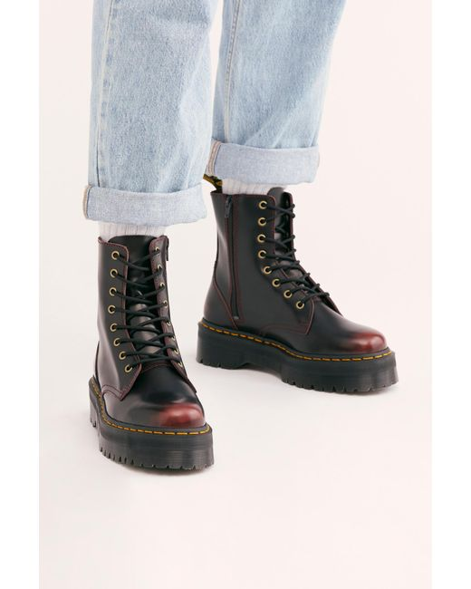 Free People Multicolor Dr. Martens Jadon Lace-up Boot