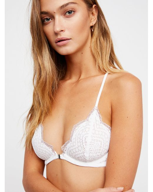 Free People - White Slow Dance Underwire Bra - Lyst