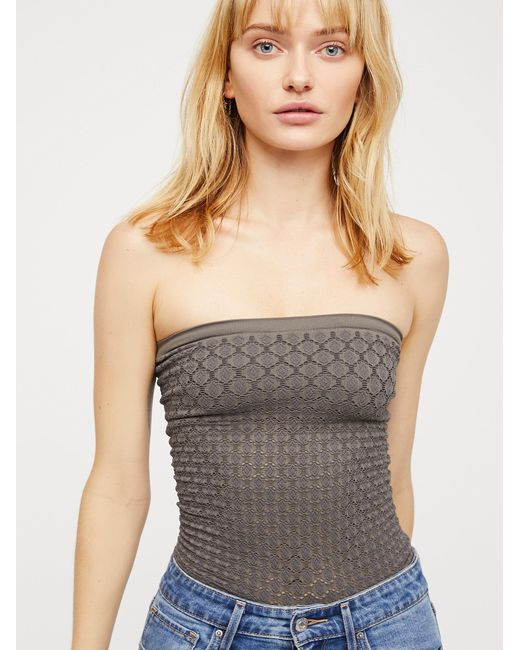Free People - Gray Honey Textured Tube By Intimately - Lyst