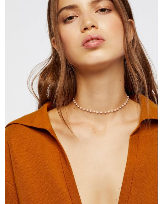 Free People   Brown Accessories Jewelry Necklaces Essential Stone Necklace   Lyst