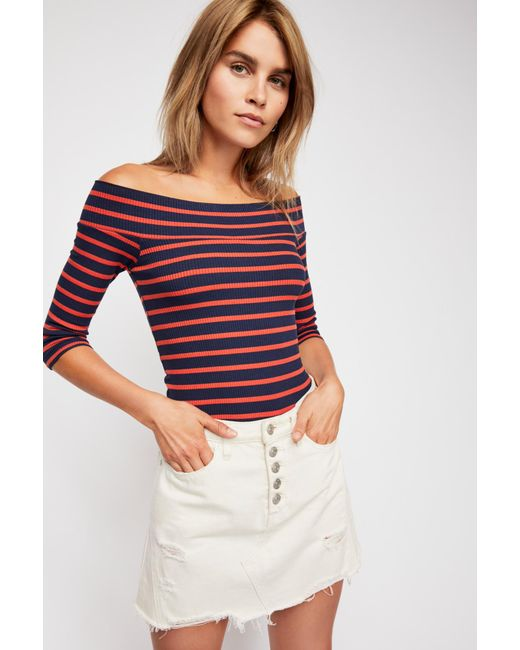 Free People - Blue We The Free Iris Off-the-shoulder Top - Lyst