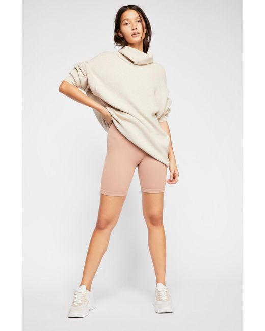 Free People - Natural Seamless Rib Bike Short By Intimately - Lyst