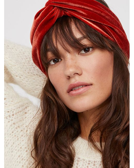 Free People | Brown With The Band Velvet Turban | Lyst