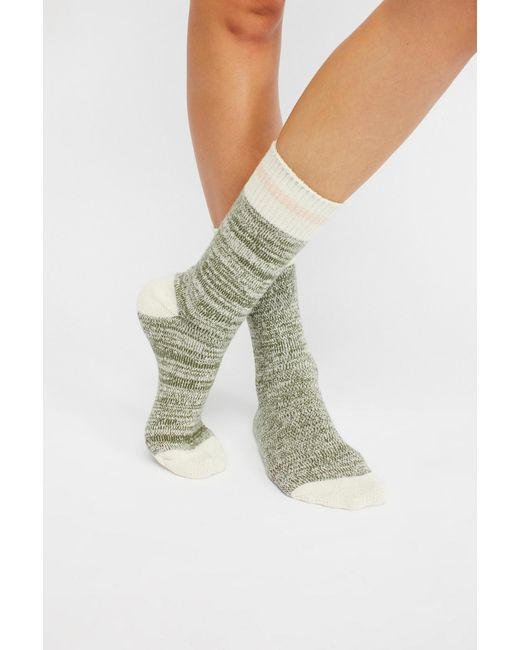 Free People - Green Albury Crew Sock - Lyst