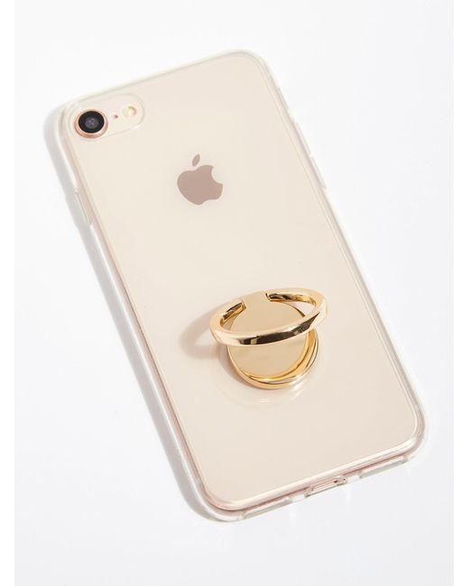 Free People - Metallic Get A Grip Phone Ring - Lyst
