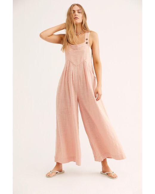 Free People - Multicolor Sundrenched Overalls - Lyst