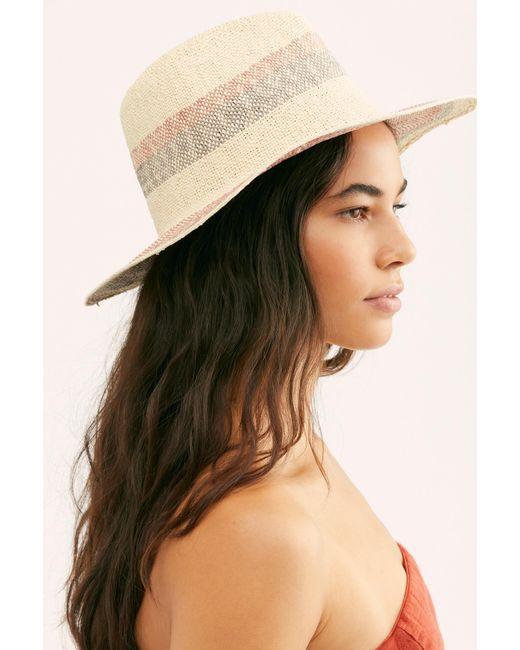 Free People - Multicolor Sand Bar Stripe Straw Hat - Lyst