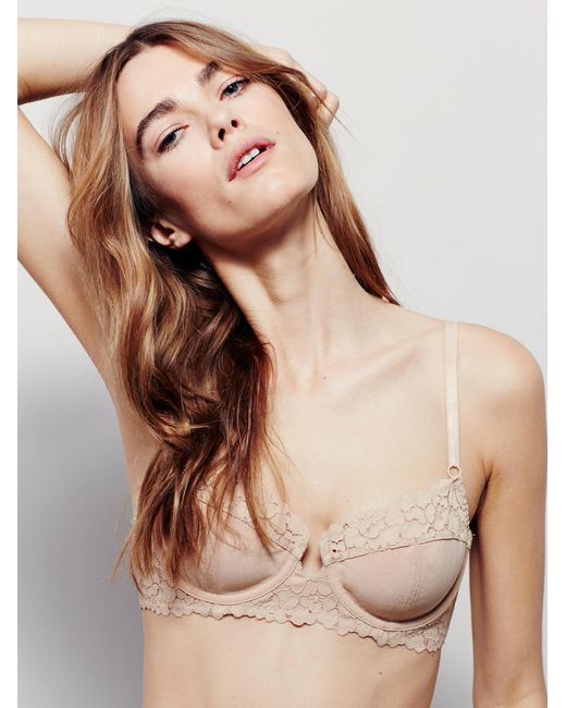 Free People - Brown Top Notch Underwire Bra - Lyst