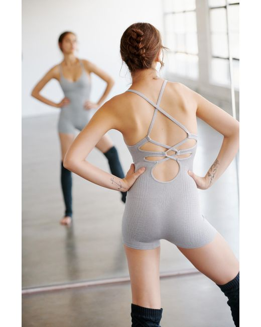 Free People - Gray Ballet Onesie By Fp Movement - Lyst