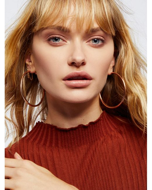 Free People | Multicolor Accessories Jewelry Earrings Hoop Earrings Essential Tube Hoops | Lyst