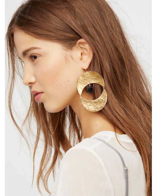 Free People | Metallic Rising Sun Turquoise Earrings | Lyst