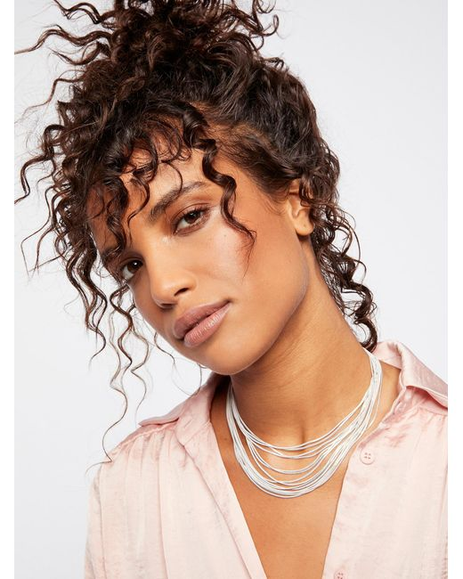 Free People | Brown Accessories Jewelry Necklaces Golden Divine Delicate Necklace | Lyst