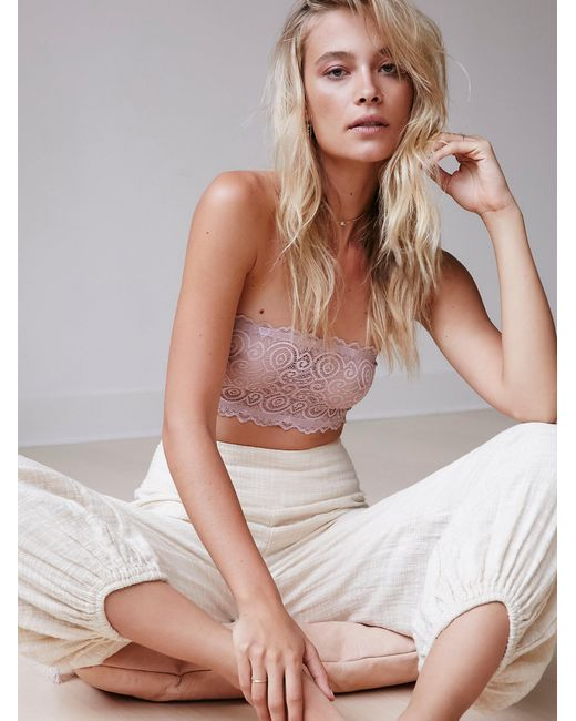 Free People | Multicolor Seamless And Lace Reversible Bandeau | Lyst