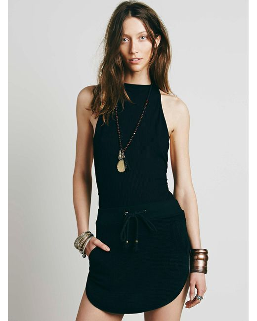 Free People   Black Extreme T-back Seamless Cami   Lyst