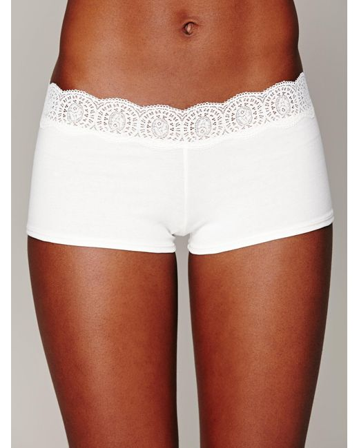 Free People - White Medallion Boyshort - Lyst