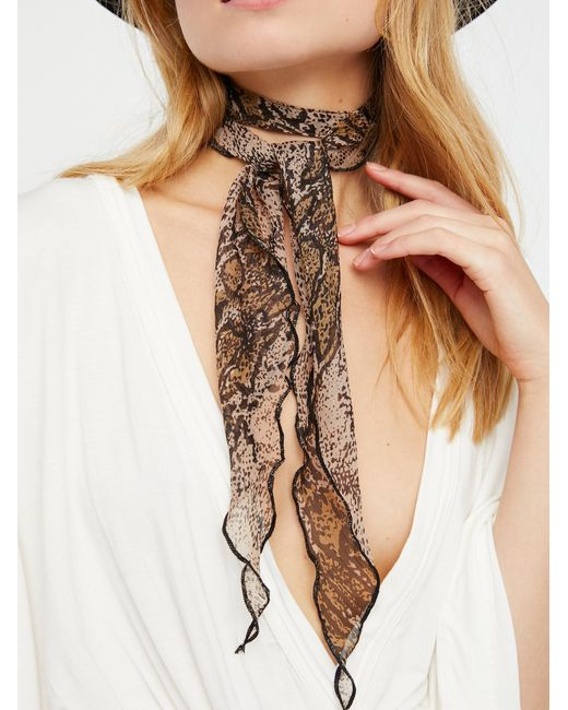 Free People - Natural That's A Wrap Printed Neck Tie - Lyst