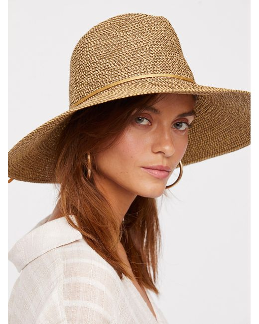 Free People | Multicolor Sancho Metallic Packable Hat | Lyst
