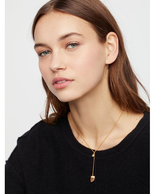 Free People | Multicolor Raw Stone Charm Lariat | Lyst