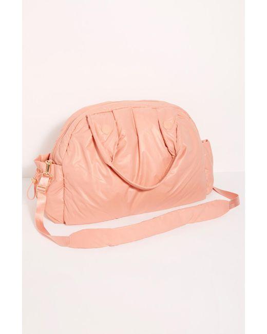 Wondrous Free People Leather Caraa Nimbus Duffle Bag In Nude Pink Customarchery Wood Chair Design Ideas Customarcherynet