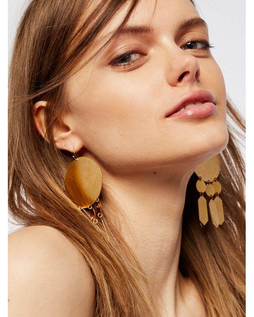 Free People | Multicolor Hyun Geometric Plate Earrings | Lyst