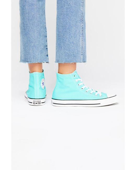 Free People - Green Charlie Hi Top Converse Sneaker - Lyst