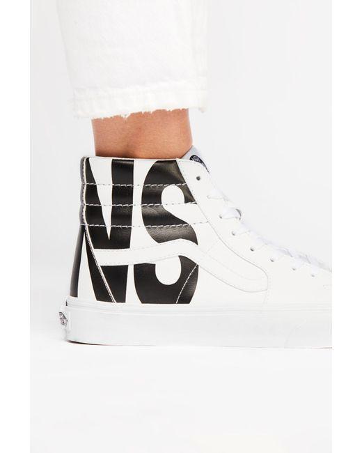 Free People - White Sk8-hi Classic Tumble Hi Top Sneaker By Vans - Lyst