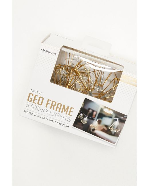 Free People - Metallic Shine On Geo Frame String Lights - Lyst