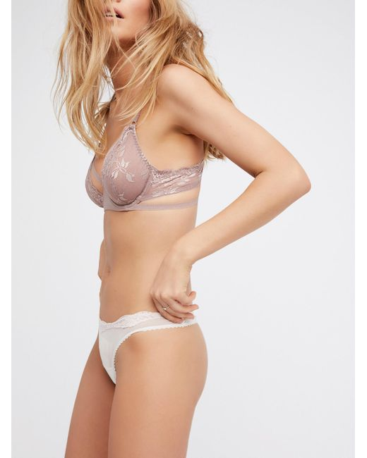 Free People - Pink Dream Of Me Underwire Bra Dream Of Me High Waisted Undie Dream Of Me Thong - Lyst