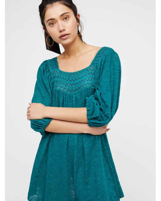Free People - Green Dancing In The Waves Romper - Lyst