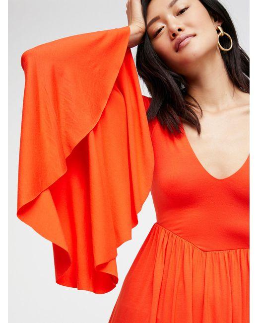 Free People | Orange Camilla Dress | Lyst