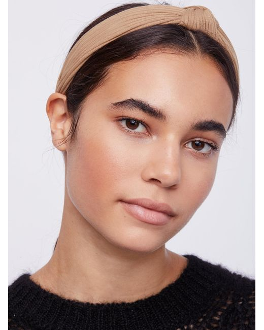 Free People | Natural Ribbed Knot Headband | Lyst