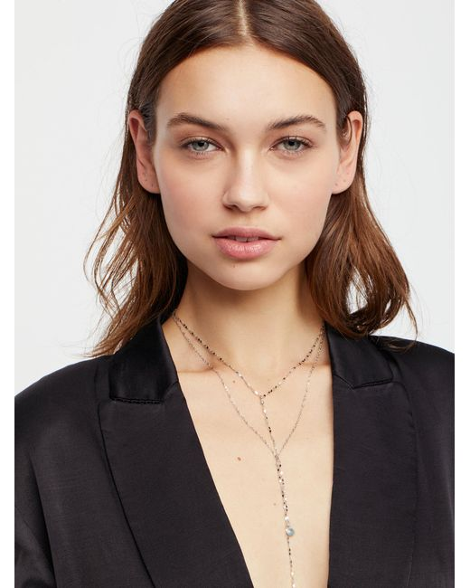 Free People | Brown Winnie Raw Stone Delicate Bolo | Lyst