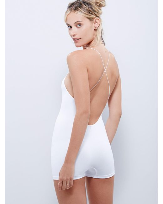Free People - White Low Back Seamless Romper - Lyst