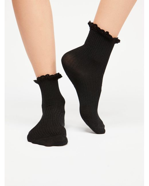 Free People - Black Bryant Heather Ankle Sock - Lyst