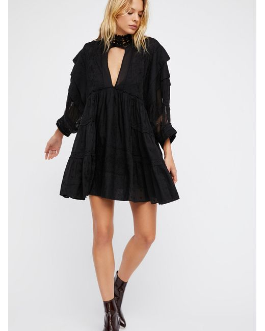 Free People | Black Heartbreaker Mini Dress | Lyst