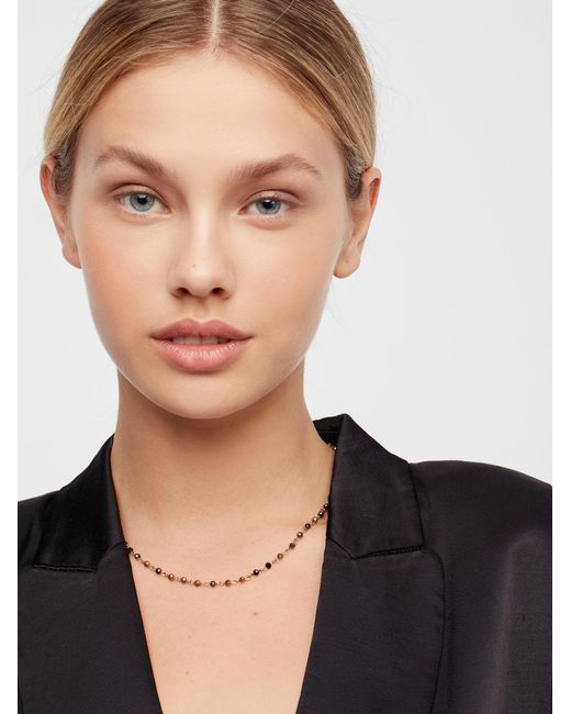 Free People | Metallic Essential Stone Necklace | Lyst