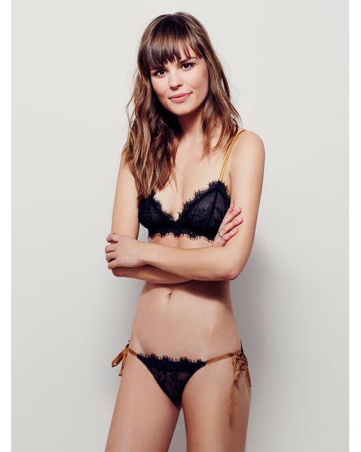 9456b3383466d Free People - Black Bedroom Eyes Tie Bikini Bedroom Eyes Bralette - Lyst ...