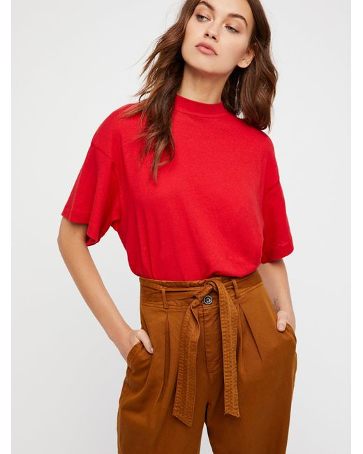 Free People | Red Need You Tee | Lyst