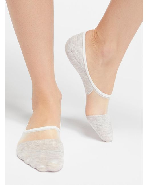 Free People - Gray Sheer Candy Ped Sock - Lyst