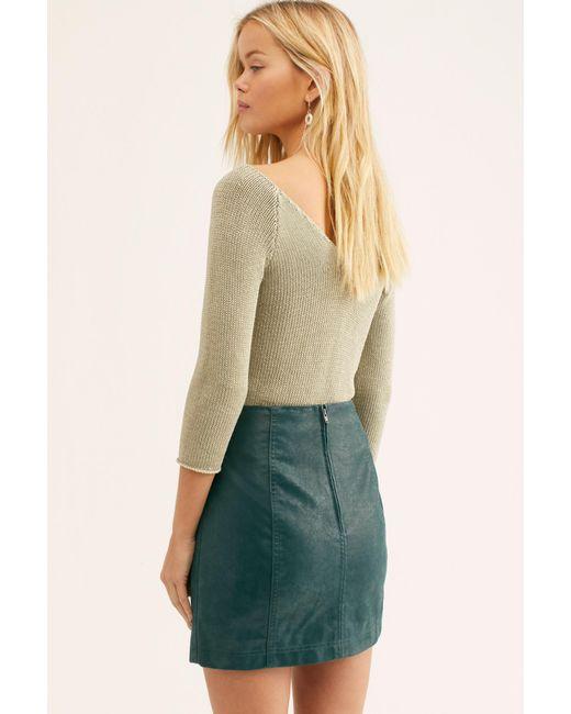 81e72b0d6a ... Free People - Green Modern Femme Vegan Suede Mini Skirt - Lyst ...