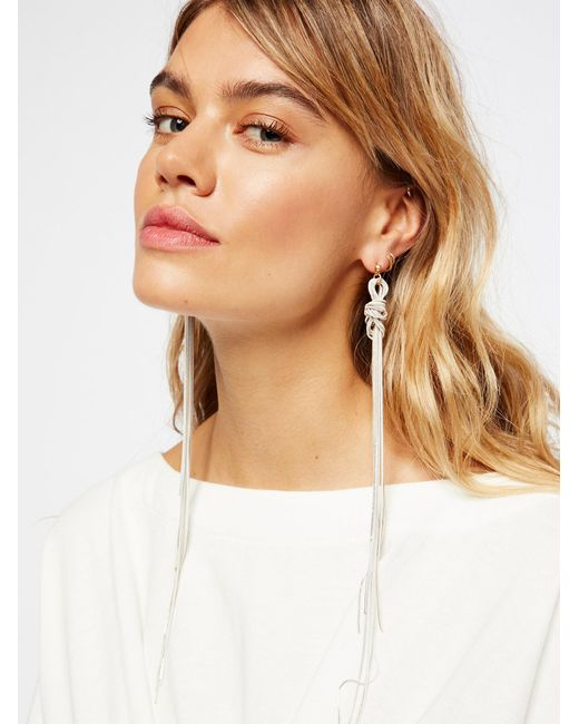 Free People   Multicolor Accessories Jewelry Earrings Finest Hour Snakechain Dusters   Lyst