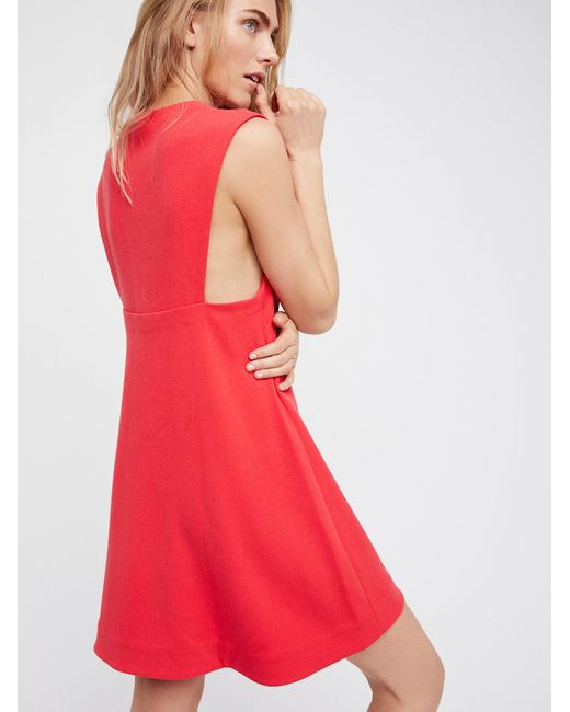 Free People | Red Mia Mini Dress | Lyst