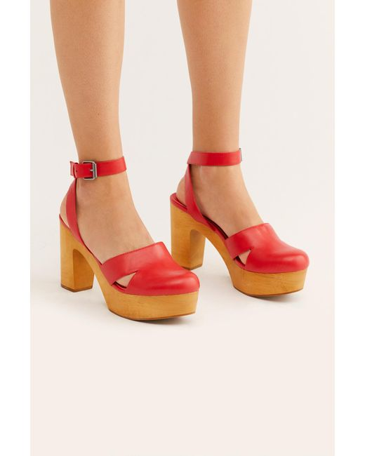 86d17b174873 Free People - Red Vegan Sunset Clog By Matisse - Lyst ...